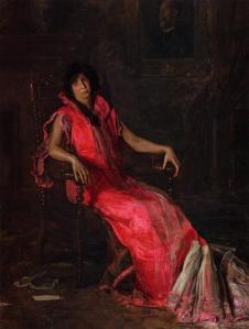 An Actress: Portrait of Suzanne Santje by Thomas Eakins (1903)
