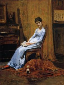 The Artist's Wife and His Setter Dog by Thomas Eakins (1885)